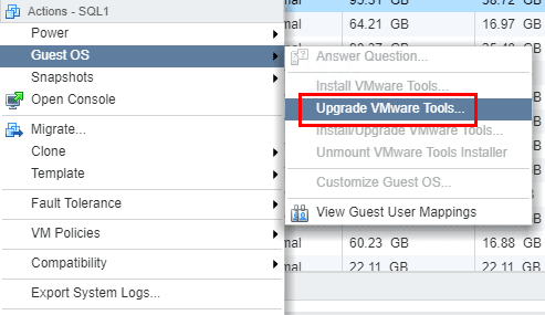 Upgrading-VMware-Tools-with-the-Web-Client Upgrade VMware Tools to Latest Version