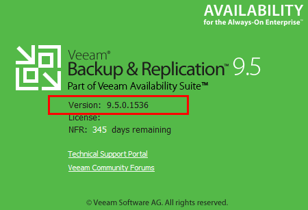 Verify-Veeam-Backup-and-Replication-9.5-Update-3-version Veeam Backup and Replication 9.5 Update 3 Released New Features