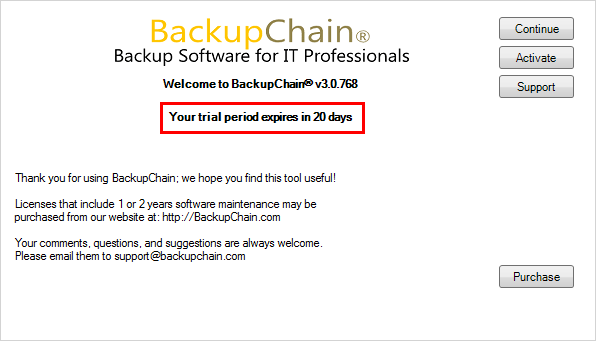 BackupChain-launches-with-Trial-version-notification Perform Live Backups of VMware Workstation Virtual Machines