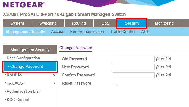 Changing-the-default-password-on-Netgear-XS708-T-switch 10 Gig Switch for Home Lab