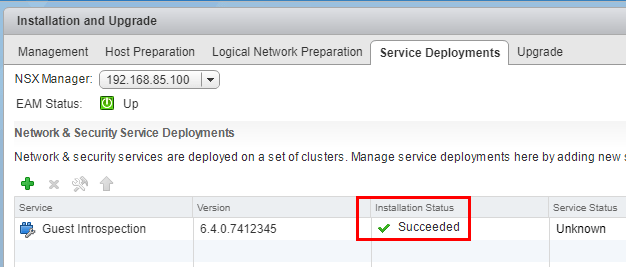 Installation-status-shows-succeeded-for-Guest-Introspection-service-deployment What is VMware NSX Guest Introspection and how is it configured?