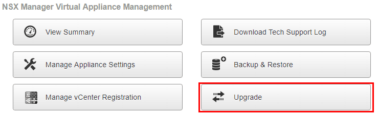 Logging-into-the-NSX-Manager-and-beginning-the-Upgrade-process VMware NSX 6.4 Released New Features and Upgrade