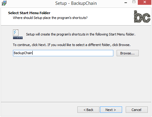 Select-the-start-menu-folder Perform Live Backups of VMware Workstation Virtual Machines