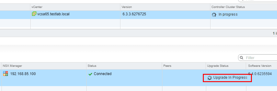 VMware-NSX-6.4-Controller-upgrade-in-progress VMware NSX 6.4 Released New Features and Upgrade