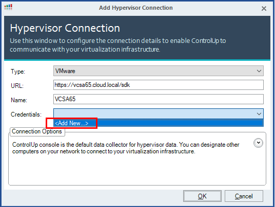 Add-new-credentials-to-ControlUp-VMware-connection ControlUp VMware Performance and Health Monitoring