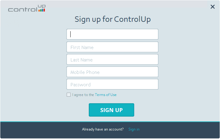 Fill-out-the-signup-form-for-ControlUp-account ControlUp VMware Performance and Health Monitoring