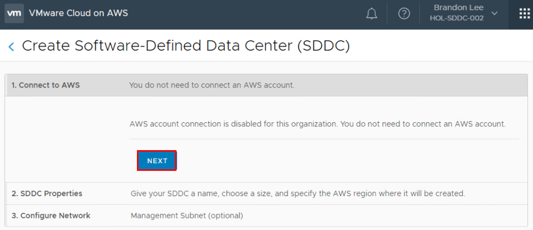Create-Software-Defined-Data-Center-Wizard-1 What is VMware Cloud on AWS?
