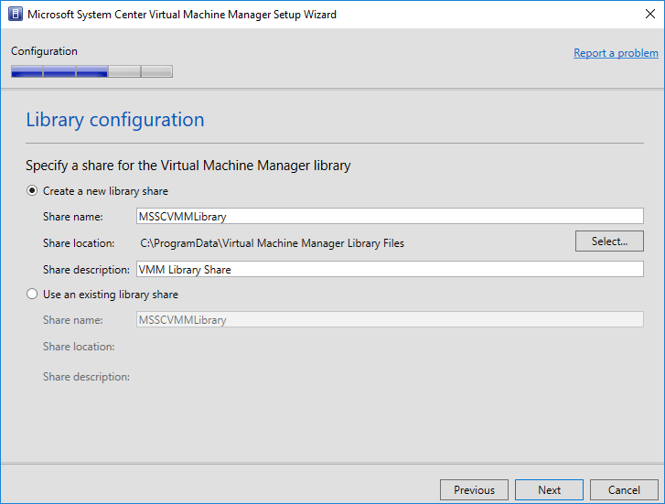 System-Center-Virtual-Machine-Manager-1801-library-configuration System Center Virtual Machine Manager 1801 New Features and Installation