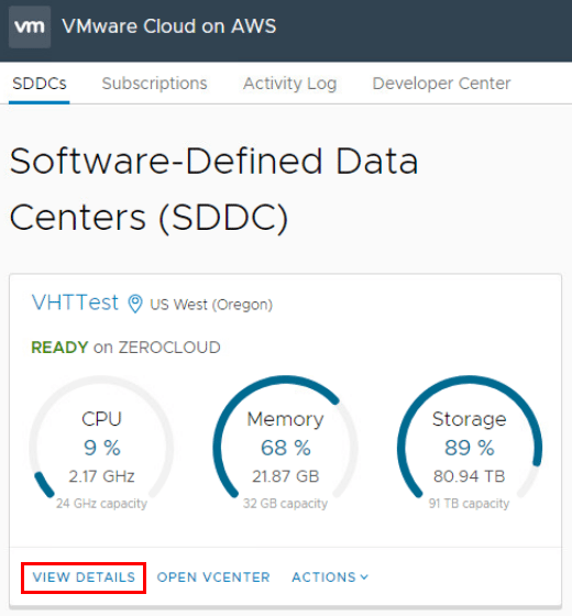 VMware-Cloud-on-AWS-Dashboard-and-viewing-details What is VMware Cloud on AWS?