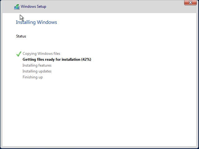 Windows-Server-2019-begins-installing Installing and Configuring Windows Server 2019 and Project Honolulu