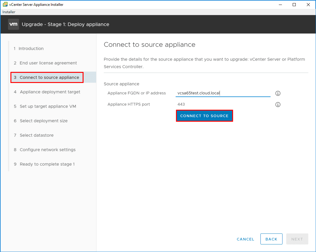 Connecting-to-the-source-VCSA-appliance-that-you-want-to-upgrade-to-VCSA-6.7 Upgrading to VMware vCenter Server VCSA 6.7