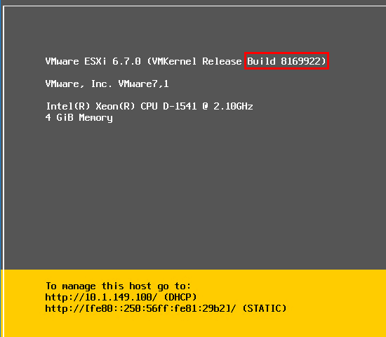 ESXi-6.7-install-is-successful-and-server-boots-to-the-DCUI-console-splash-screen VMware vSphere ESXi 6.7 New Features Installing and Upgrading