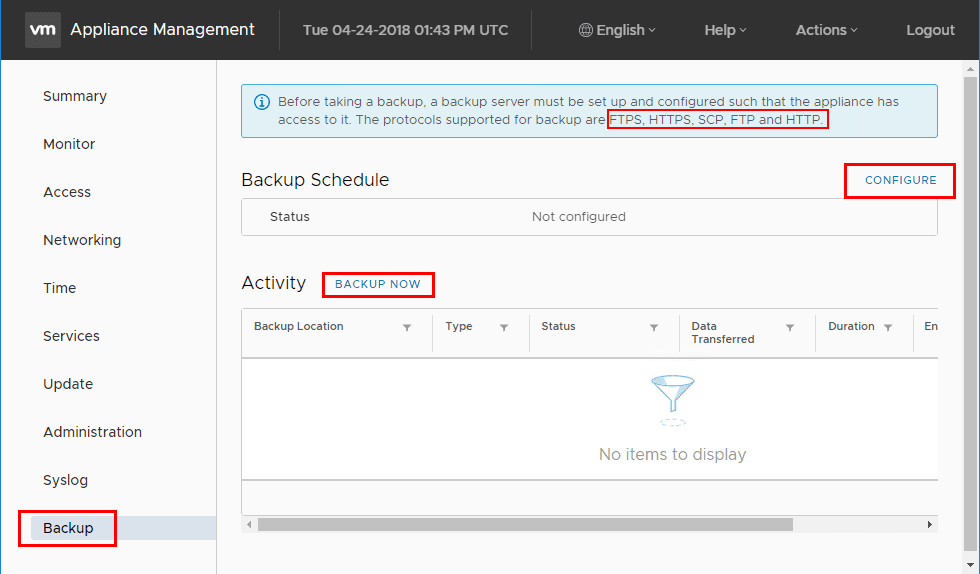 Setting-up-the-new-VCSA-6.7-Backup-Schedule-in-the-VAMI-interface VMware vCenter Server VCSA 6.7 Backup Schedule Feature Configuration