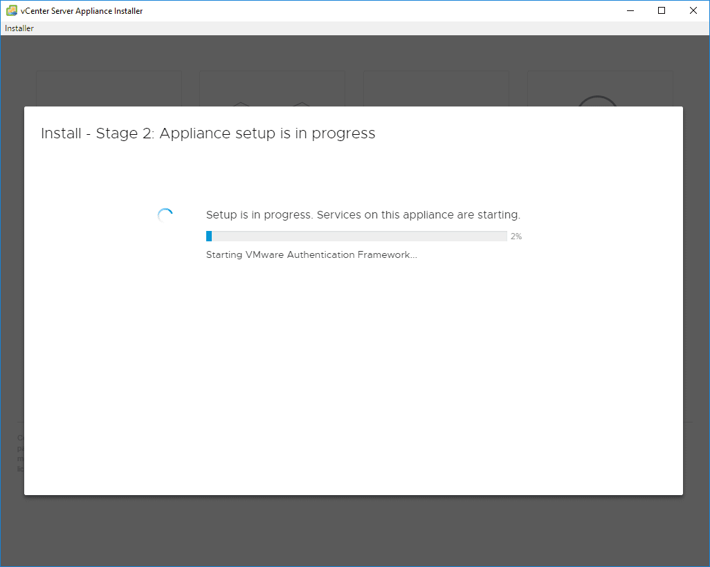 Stage-2-configuration-begins VMware VCSA 6.7 New Features Installation and Configuration