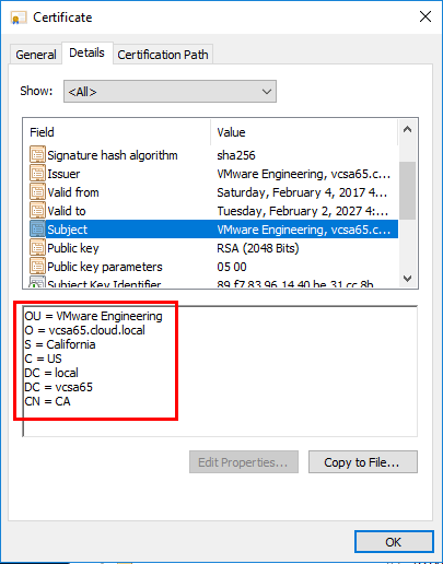 Verifying-the-CA-certificate-is-the-vCenter-certificate Connect VMware vCenter to Microsoft Azure Backup Server