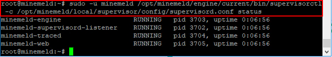 Checking-the-MineMeld-services-to-see-if-they-are-running MineMeld Threat Intelligence Installation in VMware vSphere