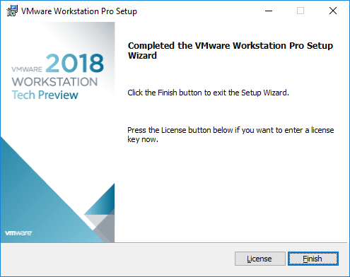 Installation-of-VMware-Workstation-Pro-Tech-Preview-2018-successful VMware Workstation Pro Tech Preview 2018 Released with New Features