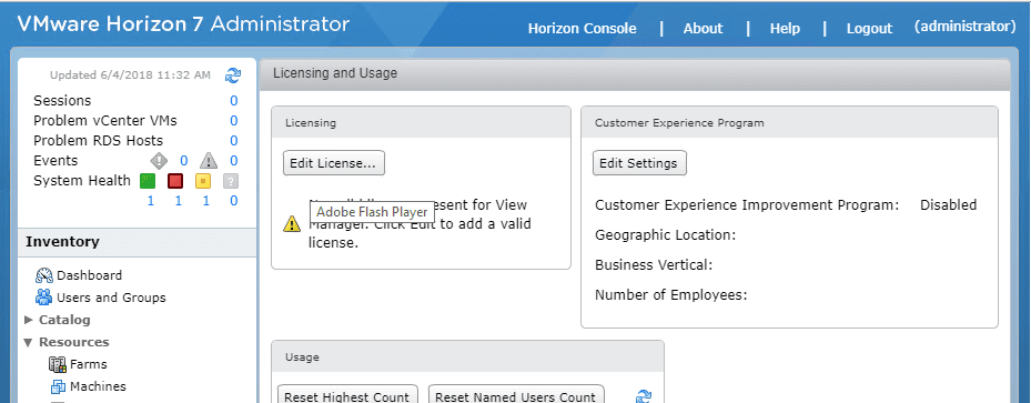 Login-to-Horizon-7.5-Connection-Server-Console Installing VMware Horizon 7.5 Connection Server