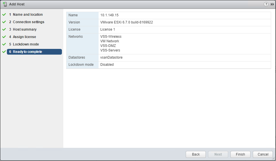 Add-the-second-VMware-vSAN-ESXi-host-to-the-new-vSAN-enabled-cluster Move VMware vSAN 6.7 Stretched Cluster to Different vCenter Server