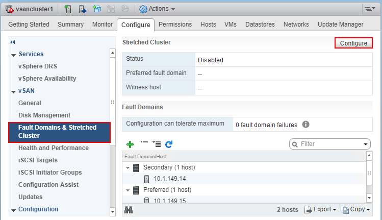 Configure-the-witness-host-in-the-new-vSAN-enabled-cluster-in-the-new-vCenter-environment Move VMware vSAN 6.7 Stretched Cluster to Different vCenter Server