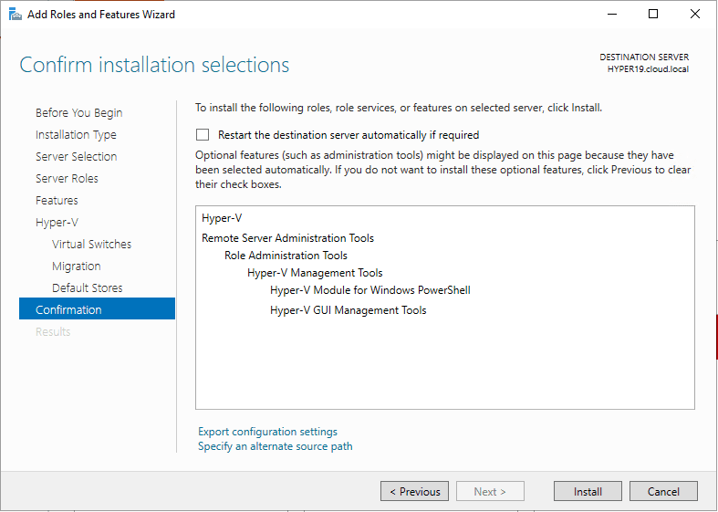 Confirming-Hyper-V-role-installation-in-Windows-Server-2019 Windows Server 2019 Preview 17709 with New Hyper-V Released
