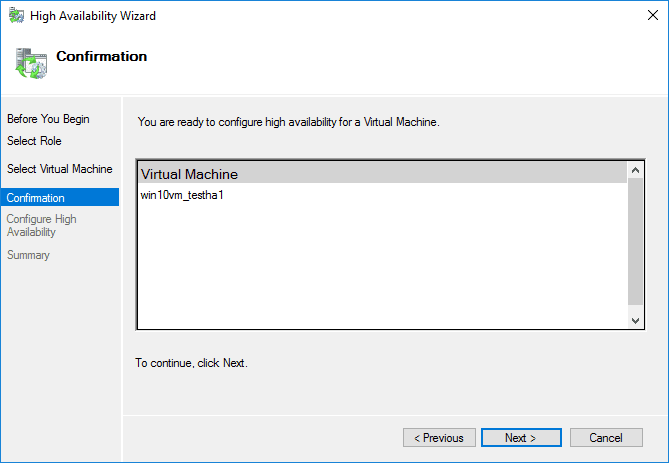 Confirming-the-high-availability-wizard-VM Creating High Availability Hyper-V Virtual Machines