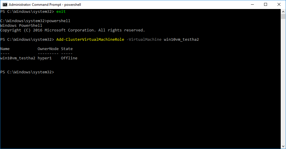 Creating-High-Availability-Hyper-V-Virtual-Machine-using-PowerShell Creating High Availability Hyper-V Virtual Machines