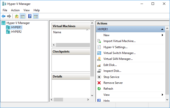 Hyper-V-manager-Creating-High-Availability-Hyper-V-Virtual-Machine Creating High Availability Hyper-V Virtual Machines
