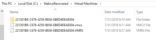 NAKIVO-Recovered-files-for-the-Hyper-V-virtual-machine-using-Flash-VM-Boot Hyper-V Instant VM Recovery with NAKIVO Backup and Replication