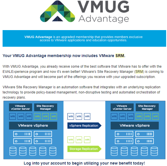 VMware-Site-Recovery-Manager-SRM-added-to-VMUG-Advantage VMware Site Recovery Manager SRM added to VMUG Advantage