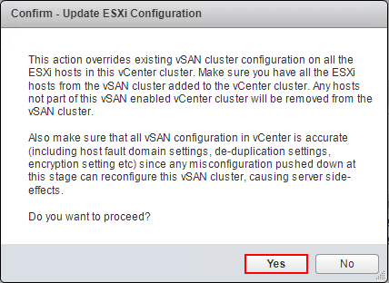 Warning-when-updating-ESXi-configuration Move VMware vSAN 6.7 Stretched Cluster to Different vCenter Server
