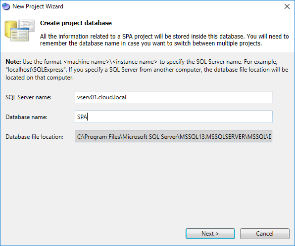 Creating-a-Server-Performance-Advisor-Database-for-projects Monitoring Hyper-V Performance with Server Performance Advisor