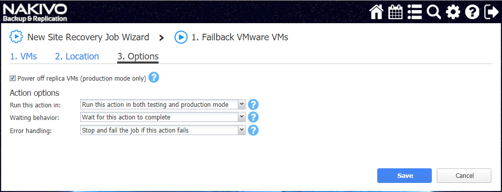 Failback-Options-screen NAKIVO Backup and Replication v8.0 Released with Site Recovery Orchestration DR Testing