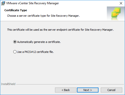 Generating-a-server-certificate-for-Site-Recovery-Manager Installing VMware vCenter Site Recovery Manager SRM 8.1