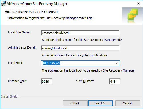Registering-the-site-recovery-manager-extension-in-vCenter Installing VMware vCenter Site Recovery Manager SRM 8.1
