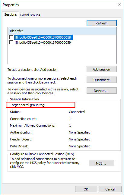 Verifying-the-first-portal-group-ID-for-MPIO-in-Hyper-V-iSCSI Hyper-V Cluster MPIO iSCSI Installation and Configuration