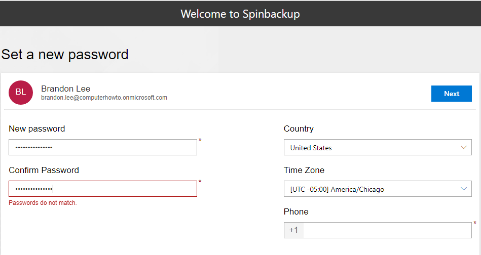 Configure-password-for-the-Spinbackup-service Choosing the Best Office 365 Backup Solution