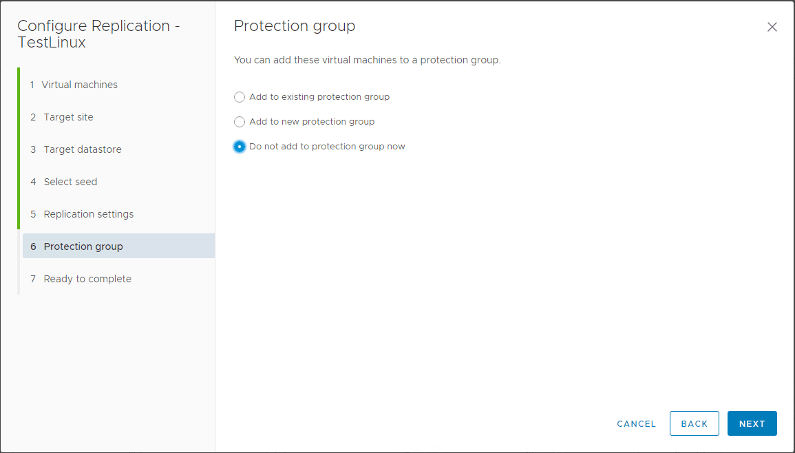 Configuring-the-protection-group-settings-for-the-new-replication Create VMware vSphere Site Recovery Manager 8.1 Replication Protection Group and Recovery Plan