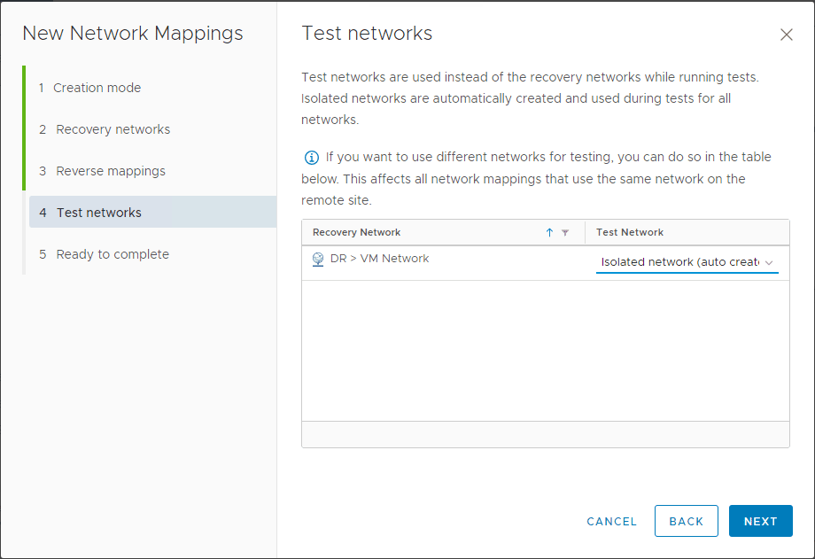 Configuring-the-test-network-for-testing-the-recovery-plans Automating DR Recovery Site VM Network and IP Configuration with VMware SRM 8.1