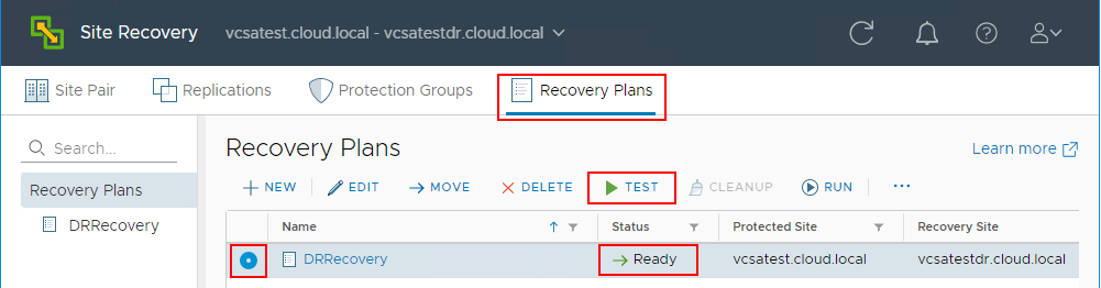 Testing-a-Recovery-Plan-in-VMware-Site-Recovery-Manager-8.1 Testing a Disaster Recovery Plan with VMware Site Recovery Manager SRM 8.1