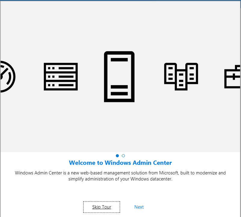 Windows-Admin-Center-Welcome-Screen-on-Windows-Server-2019 Windows Admin Center 1809 Released with Windows Server 2019 Features