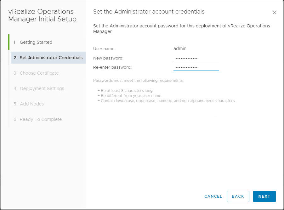 vRealize-Operations-7.0-New-Installation-Admin-Credentials-configuration VMware vRealize Operations 7.0 New Features Installation and Configuration