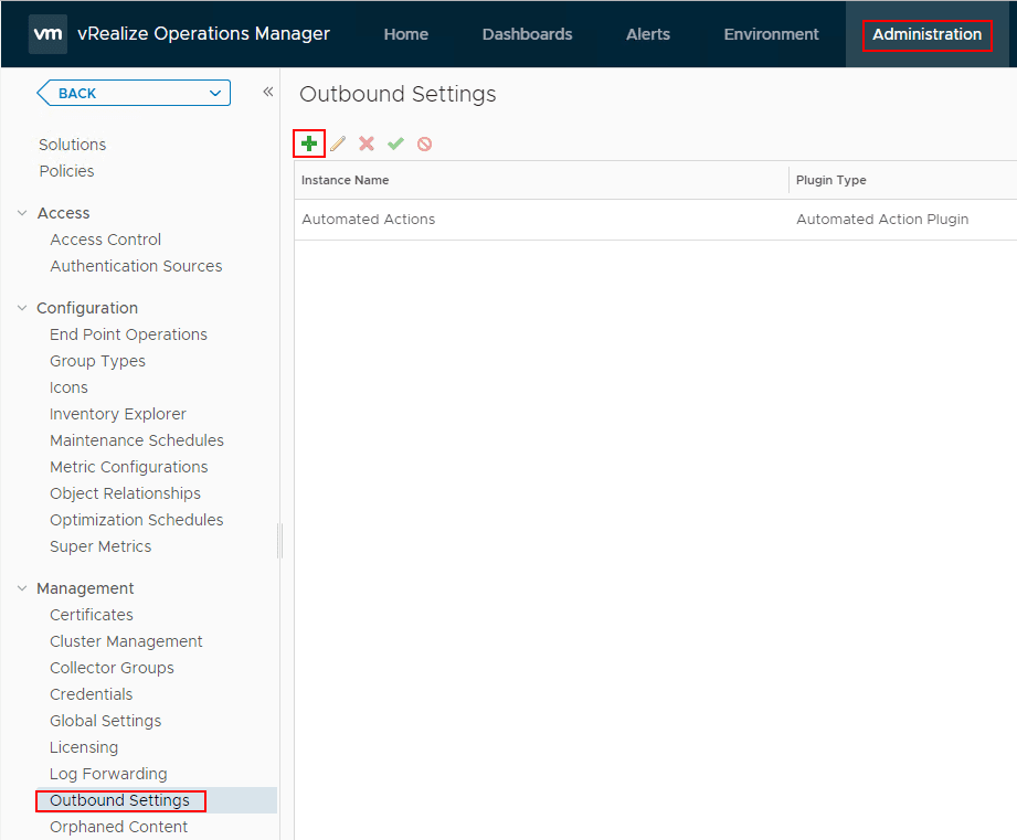 Configuring-Outbound-settings-under-Administration-in-vRealize-Operations-Manager-7.0 VMware vRealize Operations 7.0 vCenter Connection and SMTP Configuration