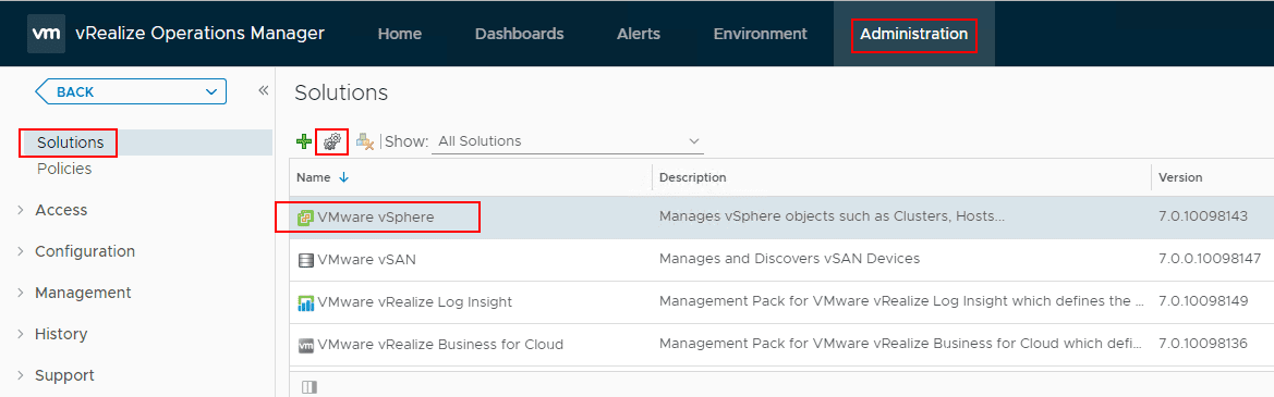 Configuring-the-vCenter-Connection-in-vRealize-Operations-7.0-under-administration-menu VMware vRealize Operations 7.0 vCenter Connection and SMTP Configuration