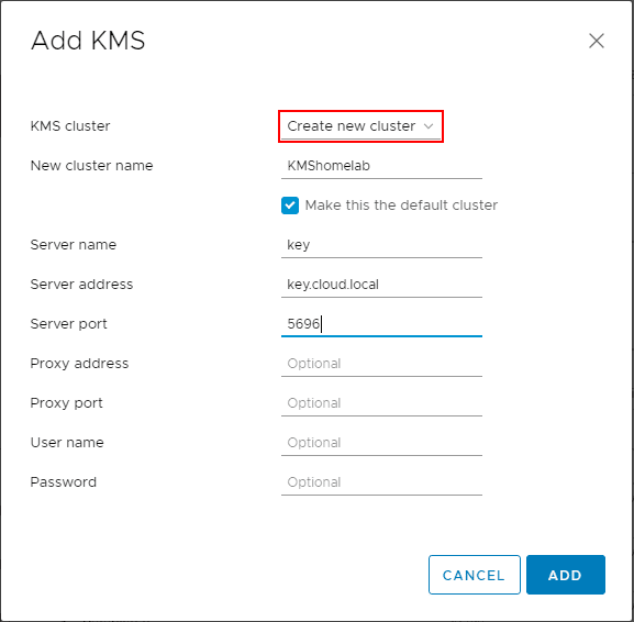 Adding-the-KMS-cluster-to-vCenter-Server Securing VMware Virtual Machines with Encryption VBS and vTPM