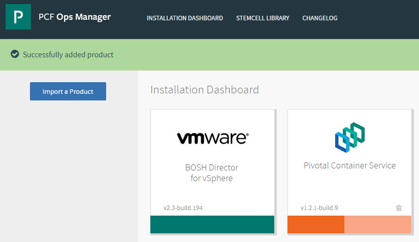 After-adding-the-product-we-see-Pivotal-Container-Service-in-the-PCF-Ops-Manager-Dashboard Getting Started with VMware Pivotal Container Service PKS PCF Ops Manager Install