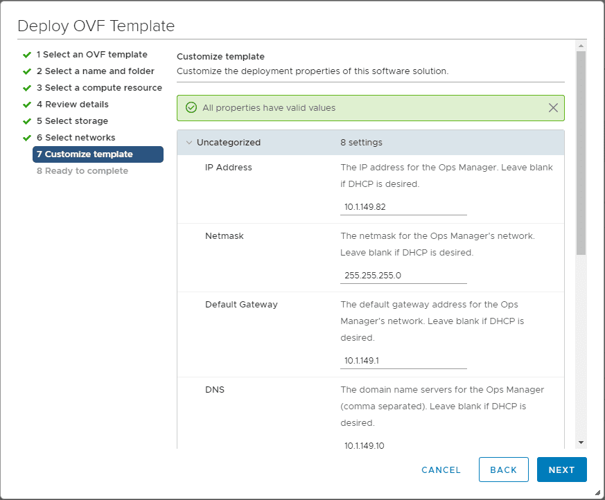 Customize-the-Pivotal-Containers-Operations-Manager-Network-and-other-settings Getting Started with VMware Pivotal Container Service PKS PCF Ops Manager Install