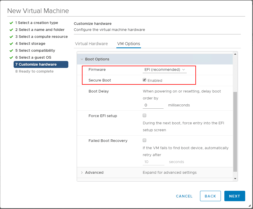 Enable-EFI-and-secure-boot-for-adding-the-vTPM-module-in-VMware-vSphere Securing VMware Virtual Machines with Encryption VBS and vTPM