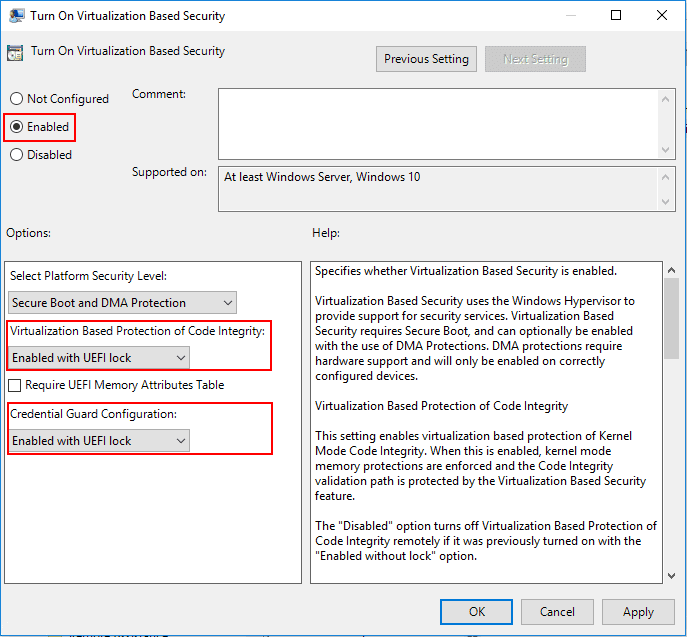 Enabling-Virtualization-Based-Security-via-group-policy-in-Windows-10-Pro Securing VMware Virtual Machines with Encryption VBS and vTPM