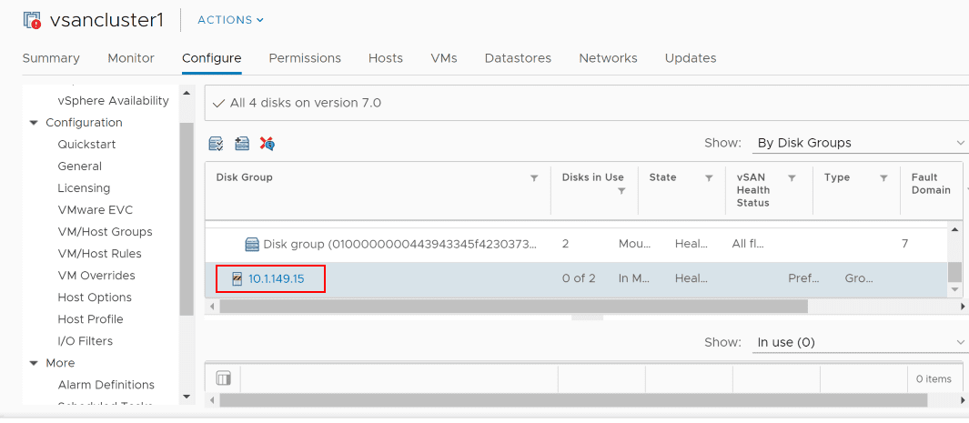 Host-still-in-maintenance-mode-from-reboot-and-has-2-free-disks-that-can-be-claimed Replacing VMware vSAN Cache Disk and Resyncing vSAN Objects